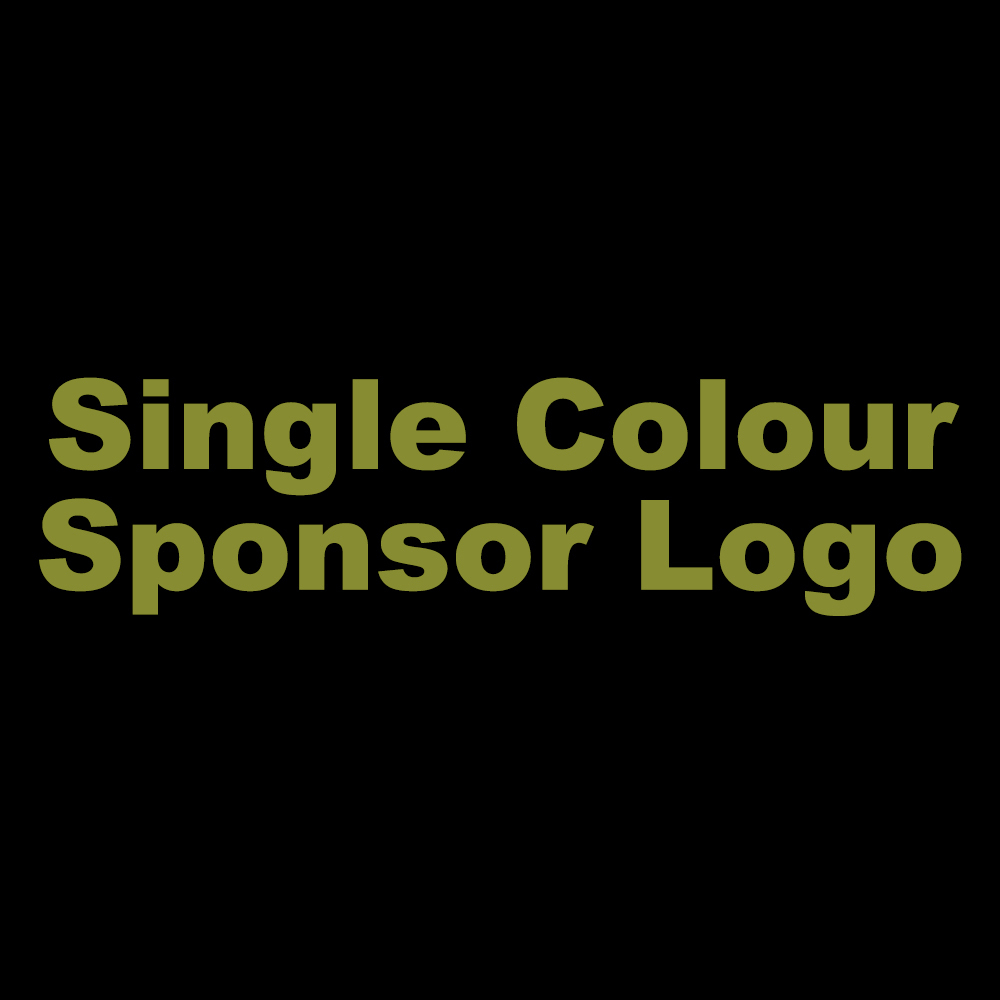 Single Colour Text Sponsor